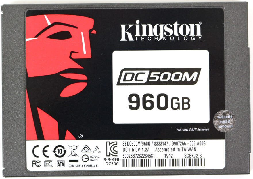 Kinston DC500M 960GB Photo top