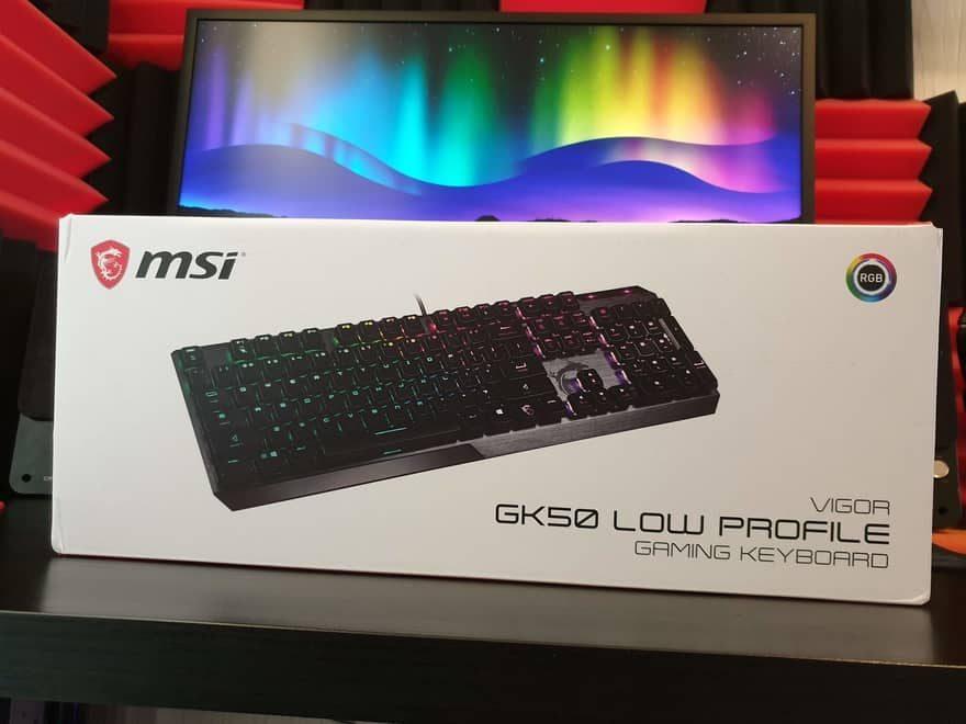 MSI Vigor GK50 Low Profile Gaming Keyboard Review 1