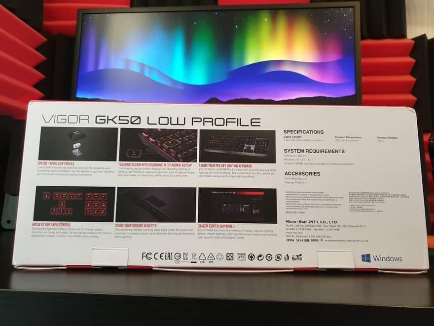 MSI Vigor GK50 Low Profile Gaming Keyboard Review 2