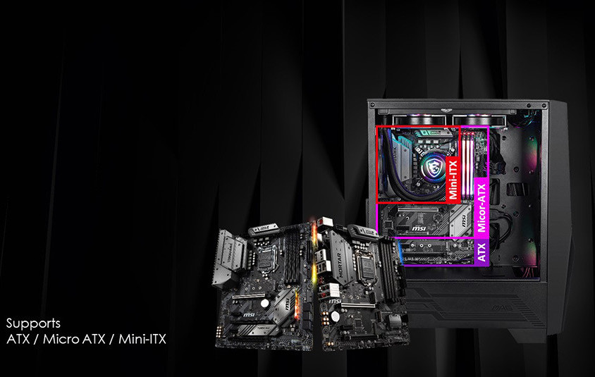 MSI MAG Forge 100 Series PC Cases Revealed
