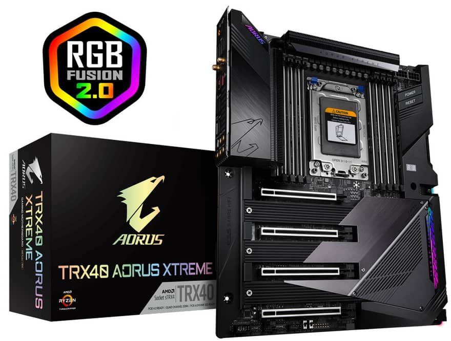 Gigabyte TRX40 AORUS and Designare Motherboards Released