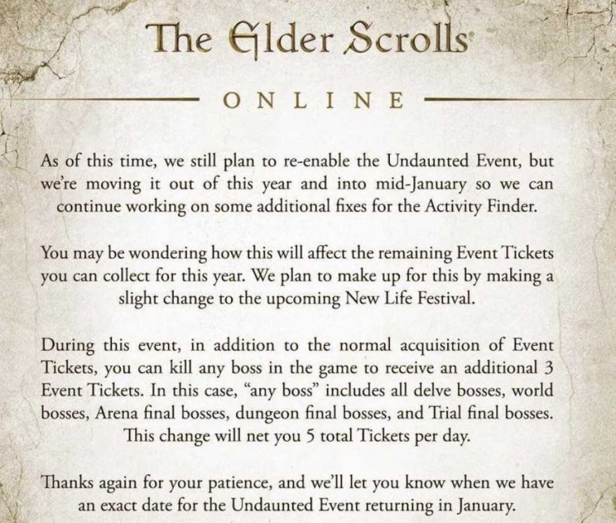 The Elder Scrolls Online Expansion Goes to Skyrim in 2020!