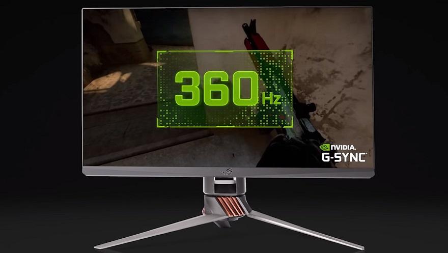 nvidia 360Hz monitor