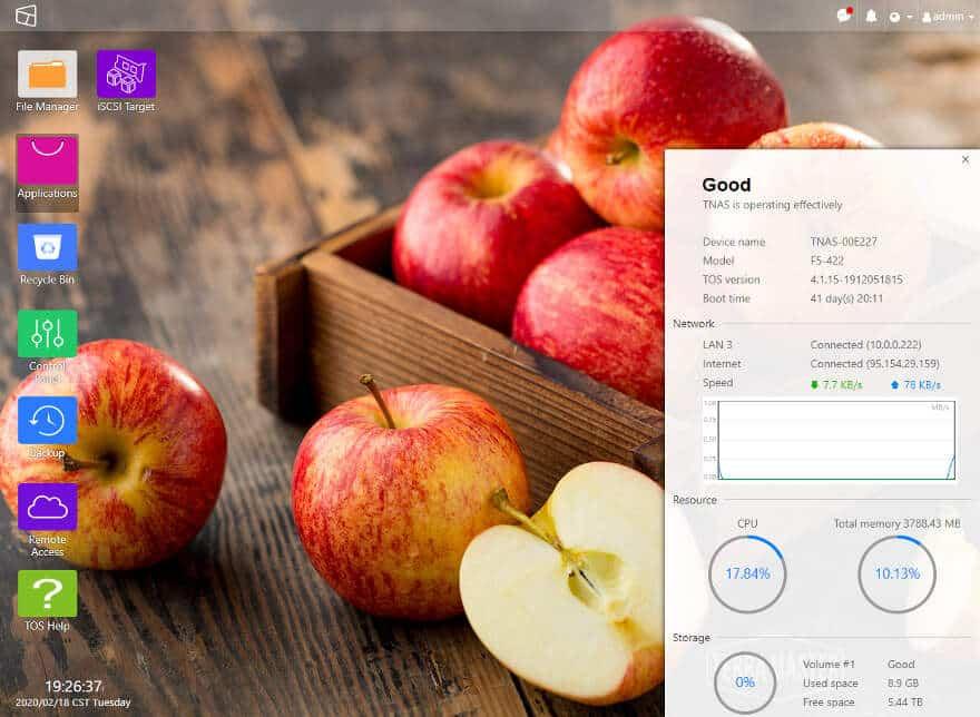 TerraMaster OS desktop