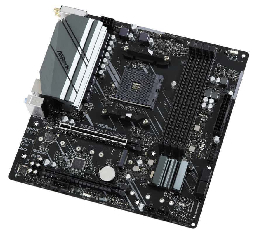 ASRock B55AM Gaming Motherboard Pictured