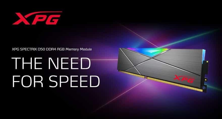 adata XPG SPECTRIX D50 DDR4 RGB 32GB Memory Module