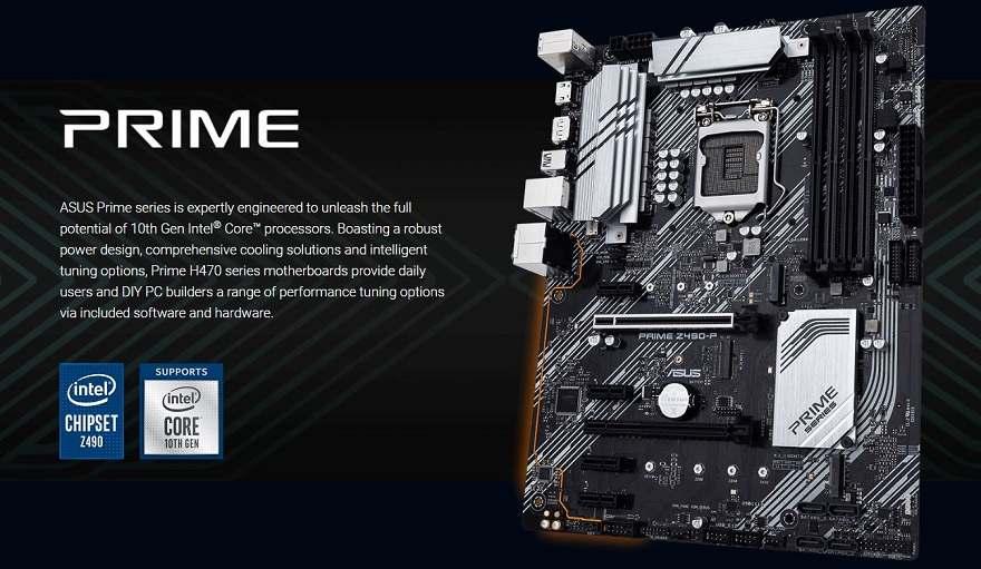 asus Z490 motherboards