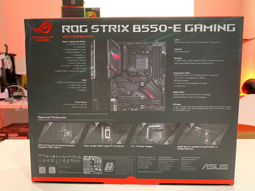 ASUS B550 E Gaming 2