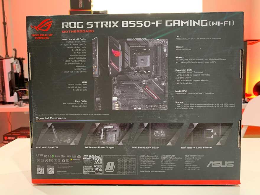 ASUS B550 F Gaming 2
