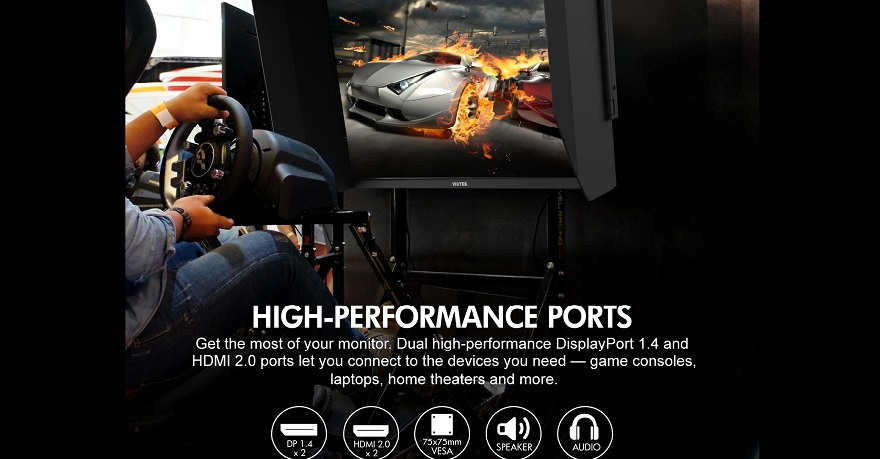 GFI27QXA 27in 4K 1ms 144hz gaming monitor high performance ports