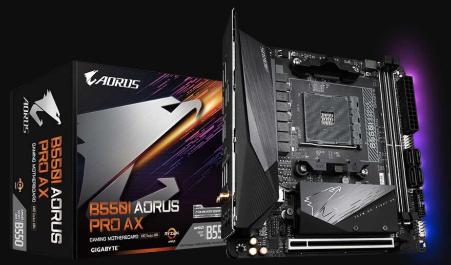 Gigabyte B550I AORUS PRO AX Motherboard