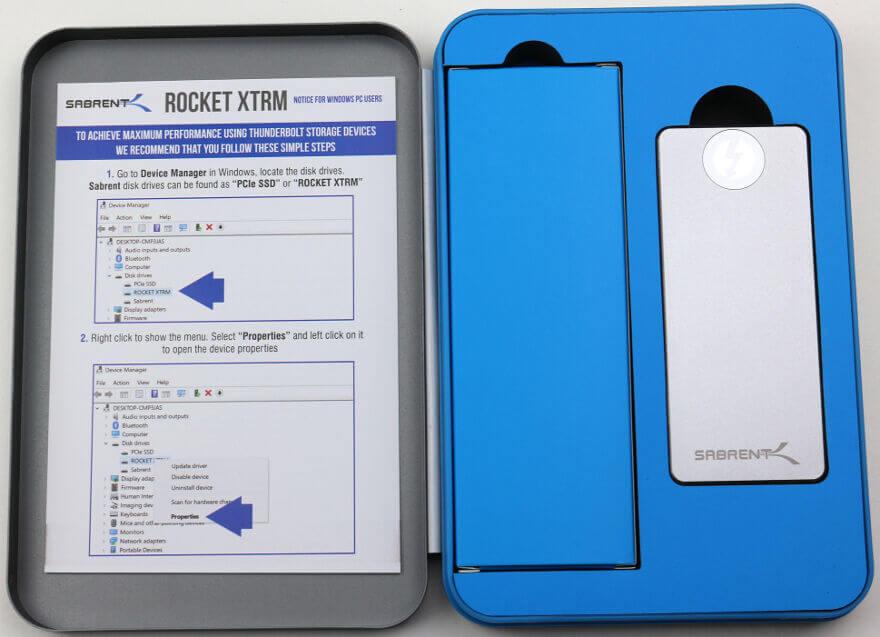 Sabrent Rocket XTRM 1TB Photo box 7 open 1