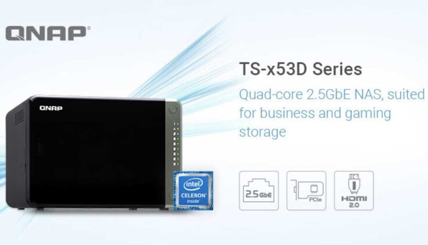QNAP Launches Quad-core Intel-based TS-x53D 2.5GbE NAS Series