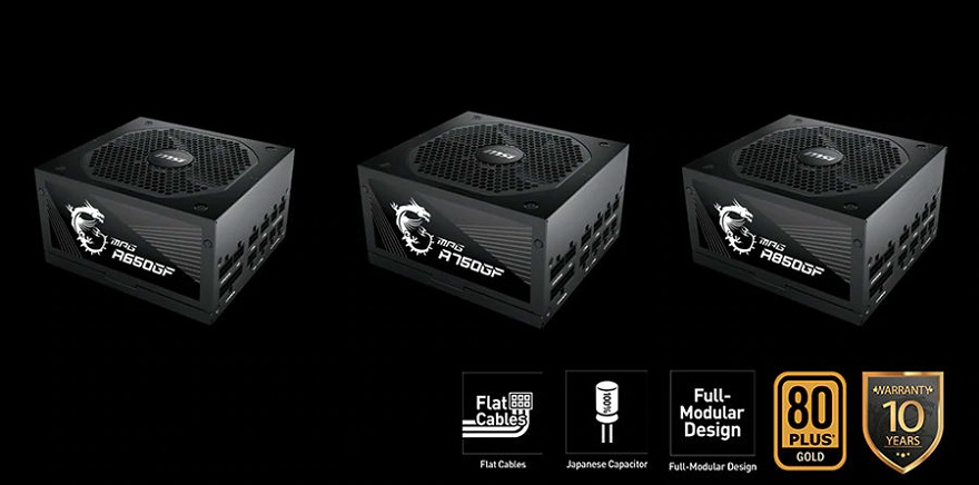 MSI MPG GF power supplies