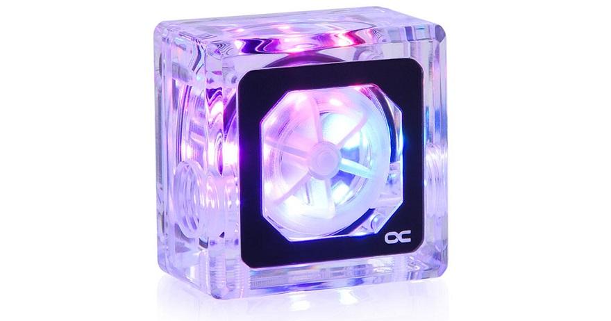 alphacool Eisfluegel Aurora Flow-sensor and HDX Pro Air M.2 SSD cooler