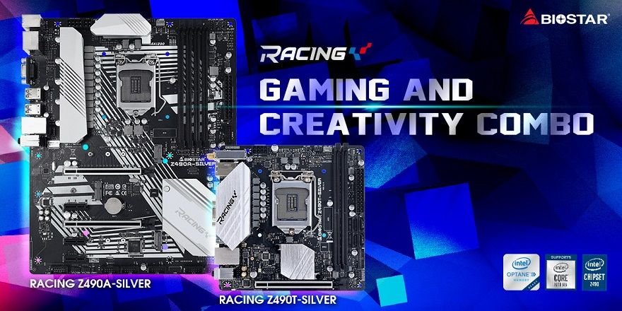 Biostar Racing Z490 Silver motherboard series