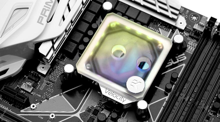 EKWB Frosted Plexi Velocity CPU Block
