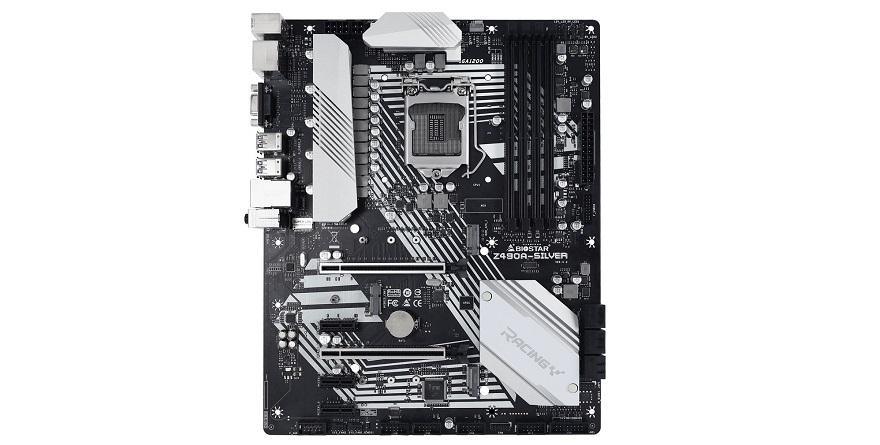 Biostar Racing Z490 Silver motherboard series