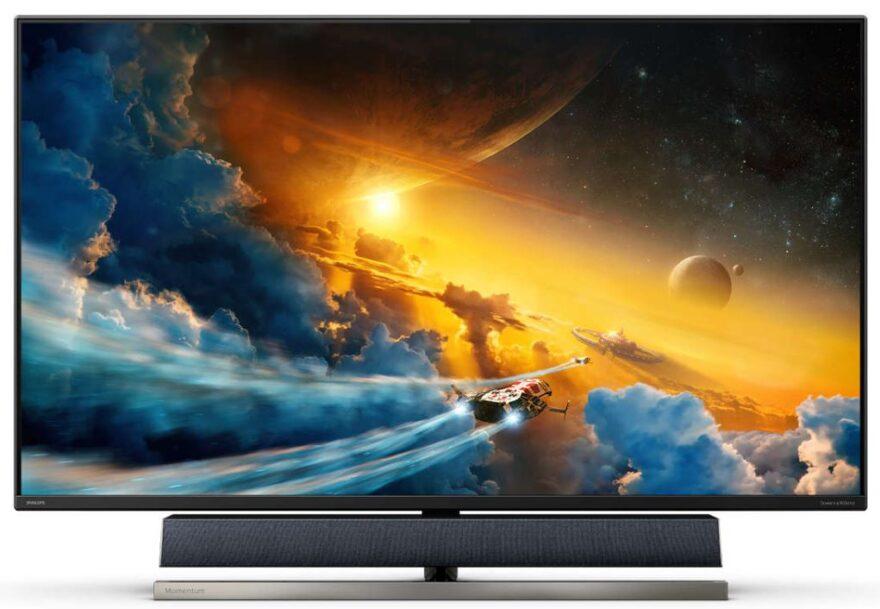 """Philips Momentum 55"""" 4K HDR Ambiglow 120Hz Gaming Monitor"""