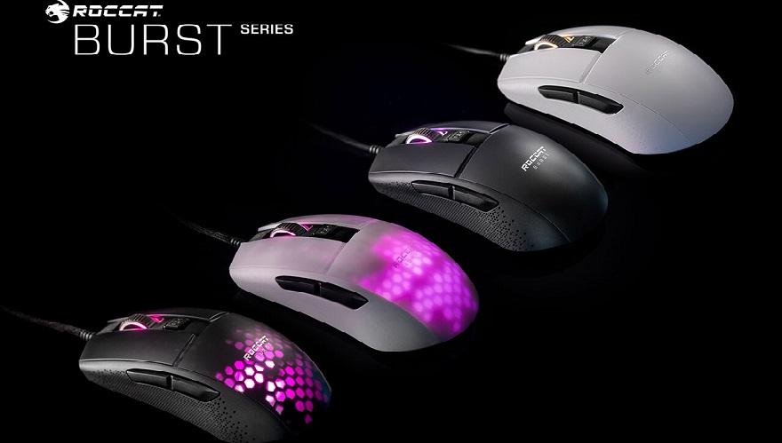Roccat Burst Pro & Burst Core Gaming Mice