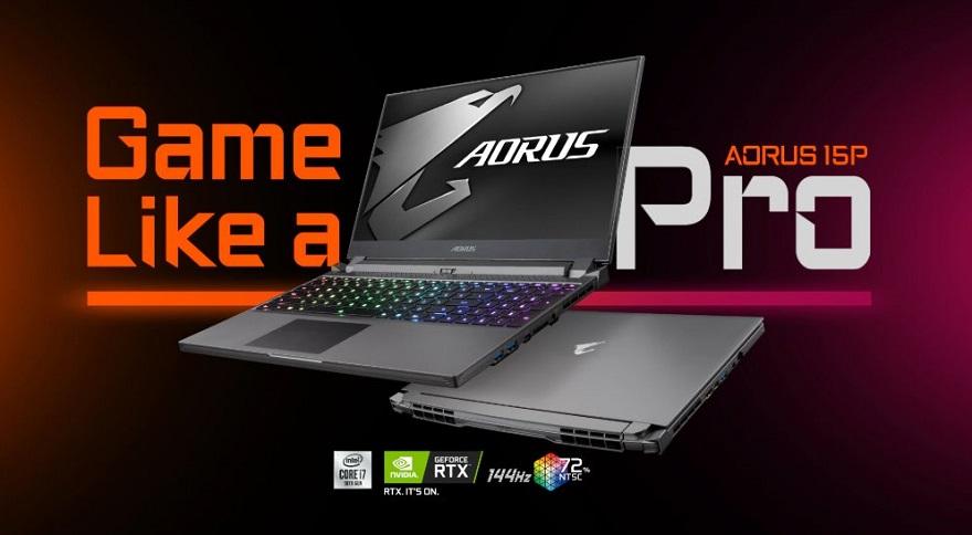 Gigabyte AORUS 15P Ultra-thin Gaming Laptop
