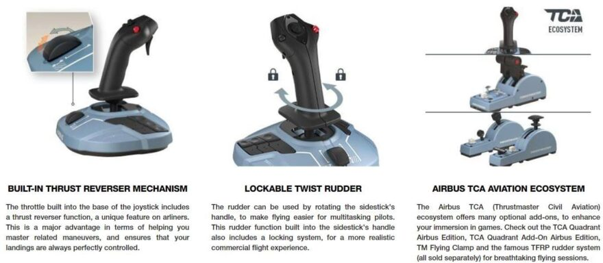 Thrustmaster TCA Sidestick Airbus Edition 3