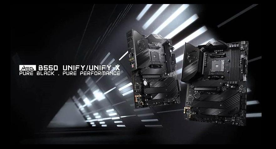 MSI MEG B550 Unify series