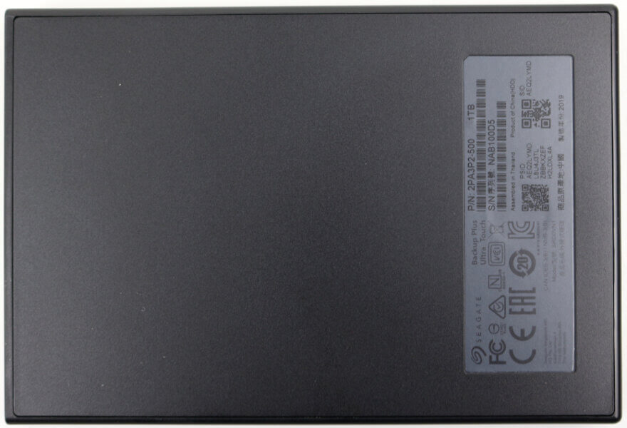 Seagate Backup Plus Ultra Touch 1TB Photo view bottom