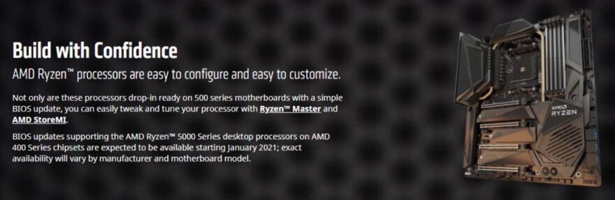 All MSI 400 Series Boards Will Support Ryzen 5000 CPUs