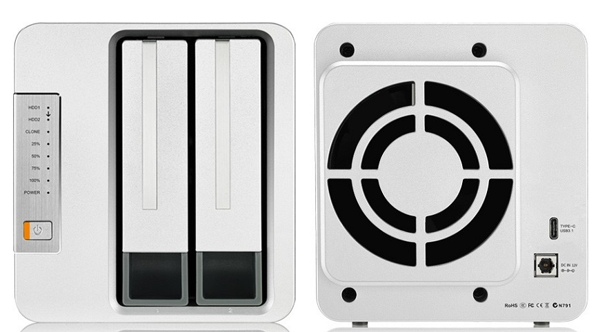 TerraMaster D2 Clone Hard Drive Duplicator