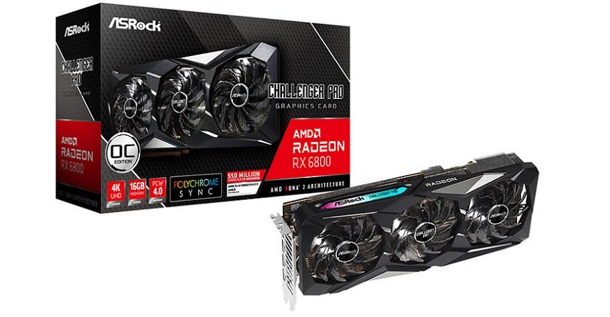 ASRock Radeon RX 6800 XT and RX 6800 Series Custom-design Graphics Cards