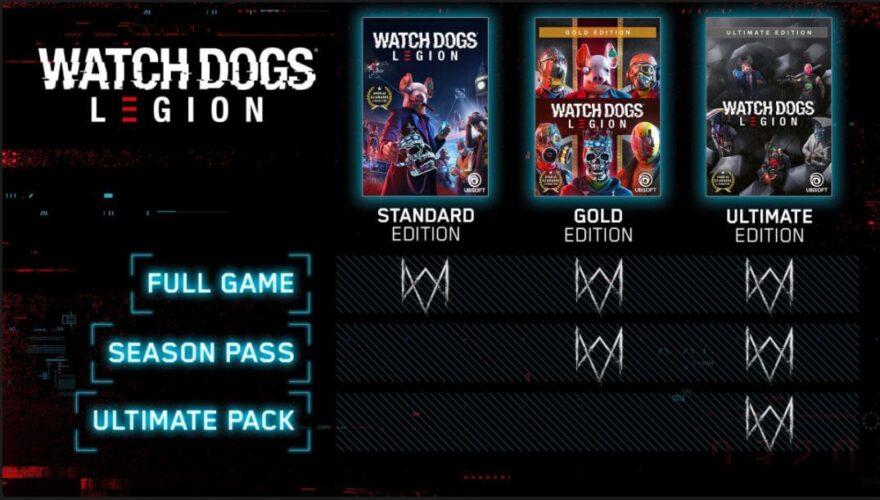 watch dog legion editions