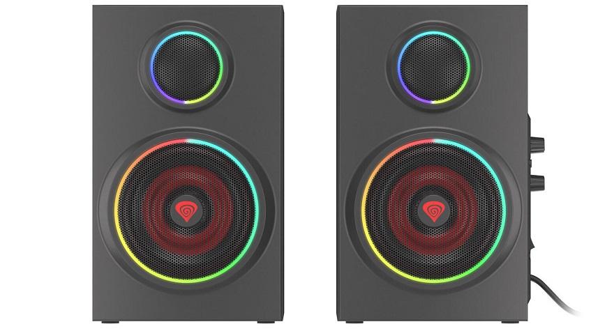 Genesis Gaming Helium 300BT ARGB Desktop Speakers