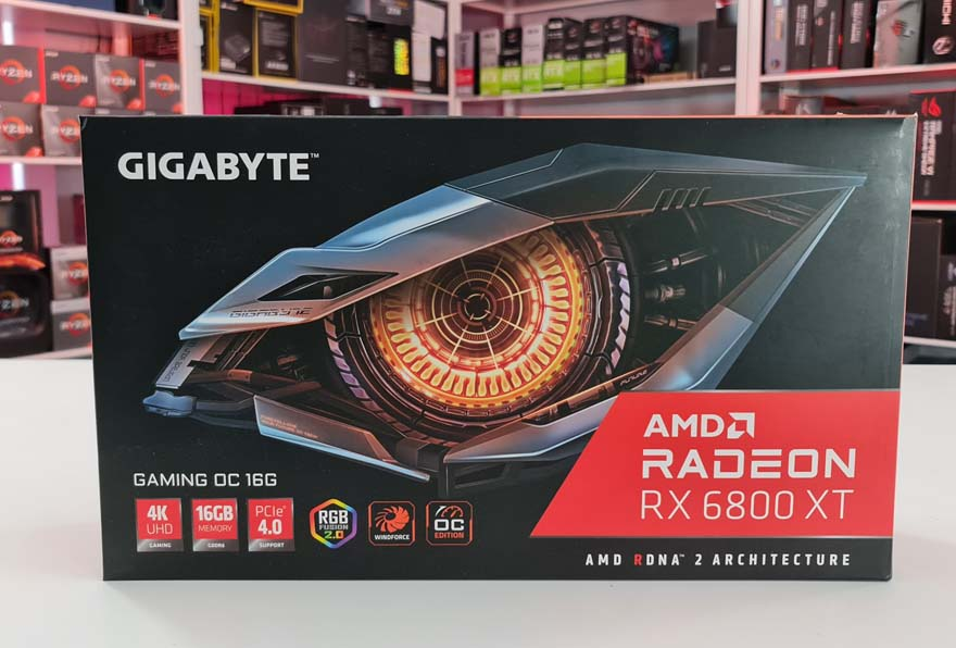 Gigabyte RX 6800 XT Gaming OC 16G  box front