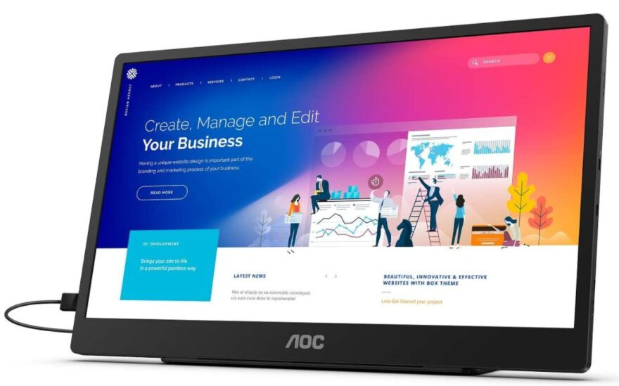 """AOC 16T2 15.6"""" Portable Touch Screen Monitor Review"""