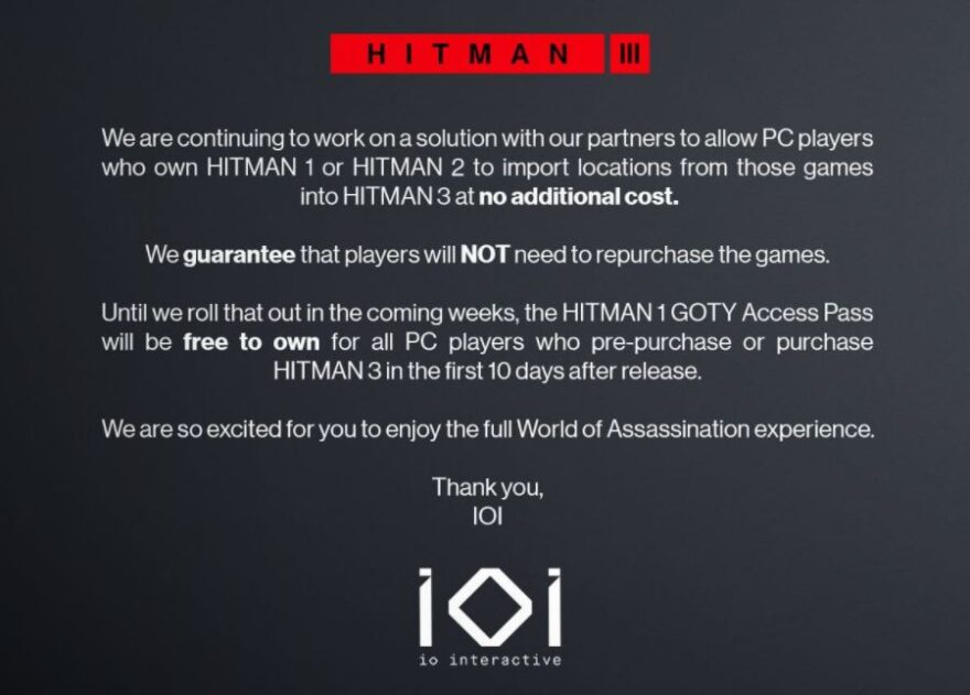 Hitman 3!
