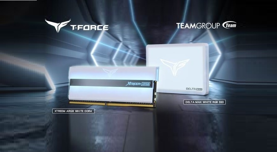 TeamGroup XTREEM ARGB White Gaming Memory and Delta MAX White RGB SSD