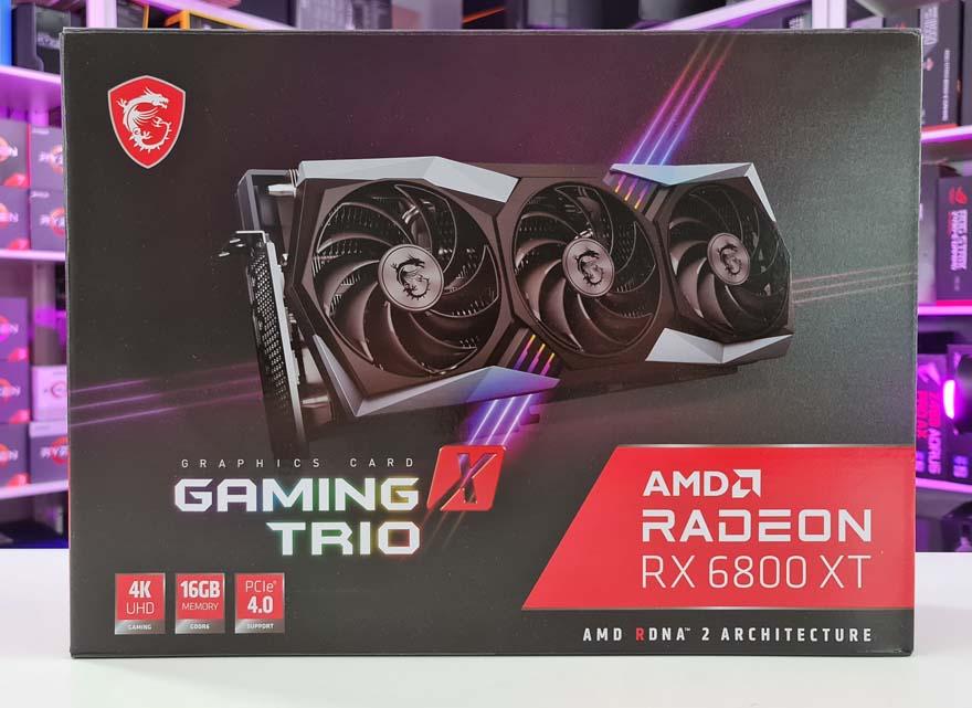 Msi 6800 xt gaming trio box front