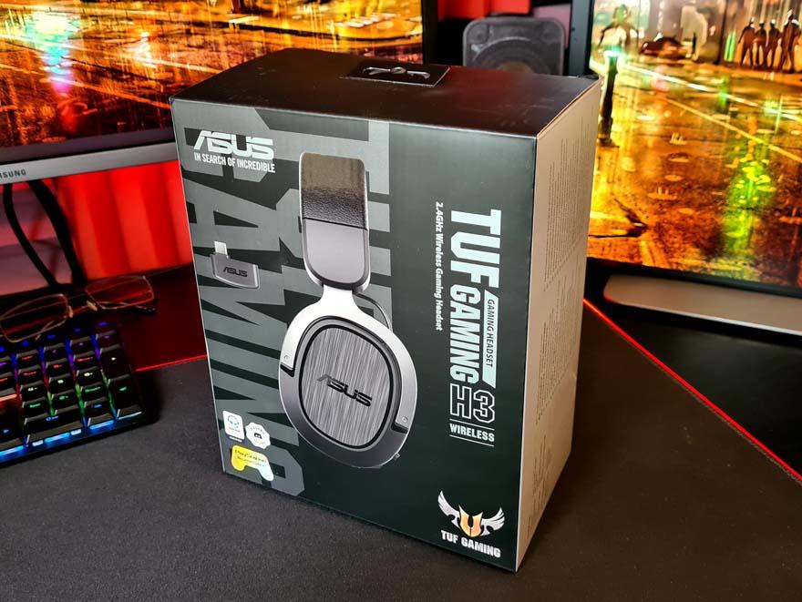 1 ASUS TUF Gaming H3 Wireless Headset box