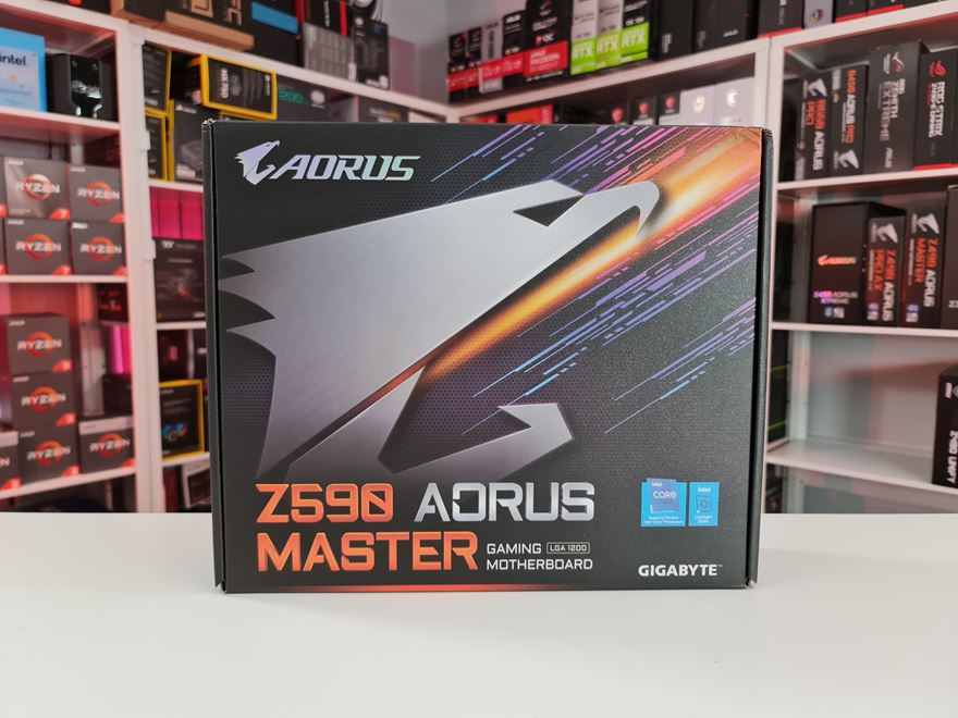 Gigabyte Z590 AORUS MASTER Motherboard box front