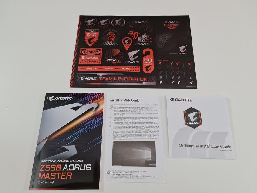 AORUS Z590 Master manuals