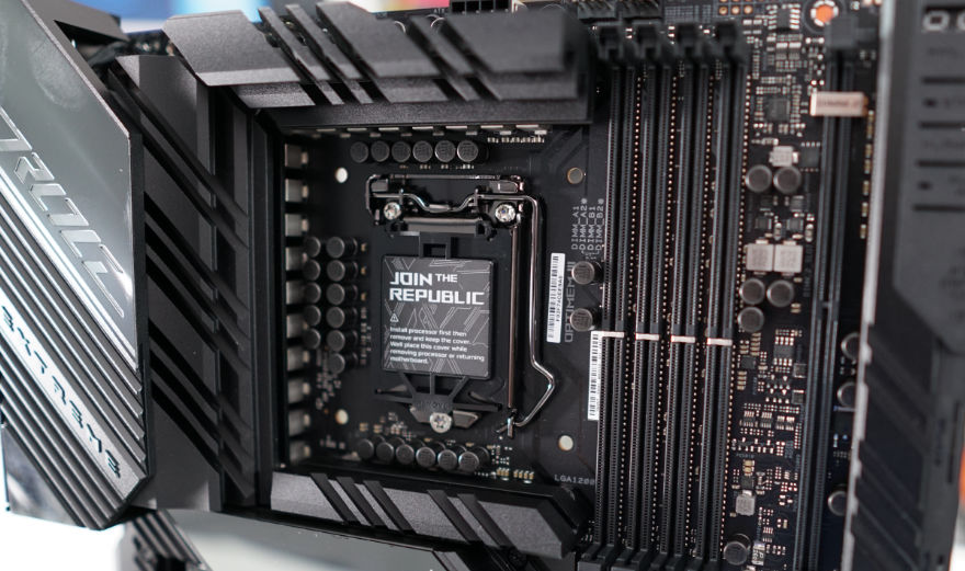 ASUS ROG MAXIMUS XIII EXTREME Motherboard cpu ram slots
