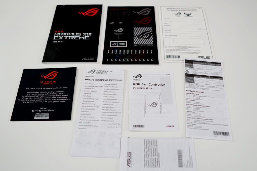 ASUS ROG MAXIMUS XIII EXTREME Motherboard manuals