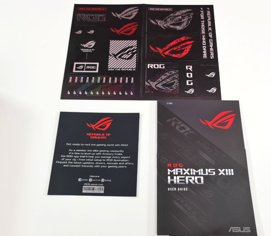ASUS ROG MAXIMUS XIII Heor Motheboard manuals