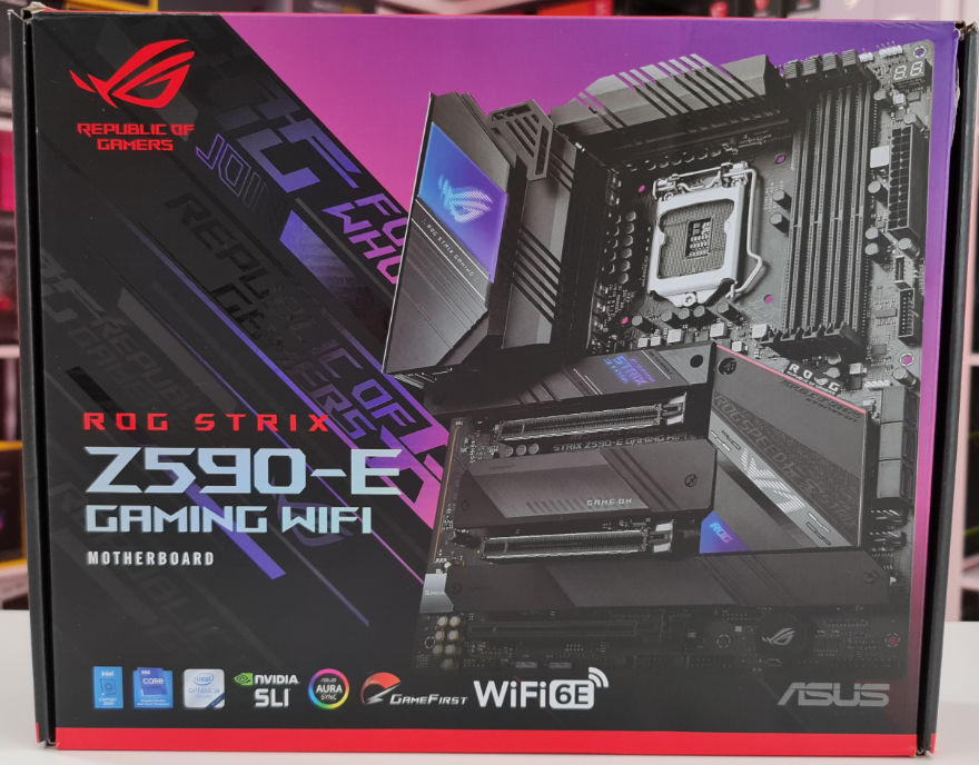 ASUS ROG STRIX Z590 E Gaming Wifi Motherboard box front