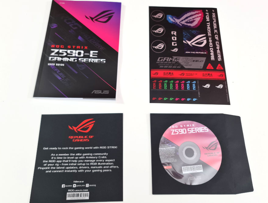 ASUS ROG STRIX Z590 E Gaming Wifi Motherboard manuals