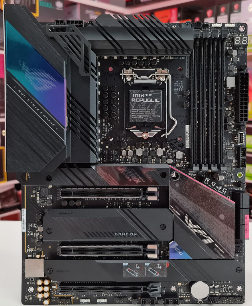 ASUS ROG STRIX Z590 E Gaming Wifi Motherboard whole