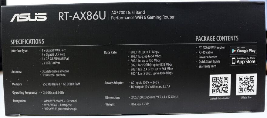 ASUS RT AX86U Photo box 3 side 1