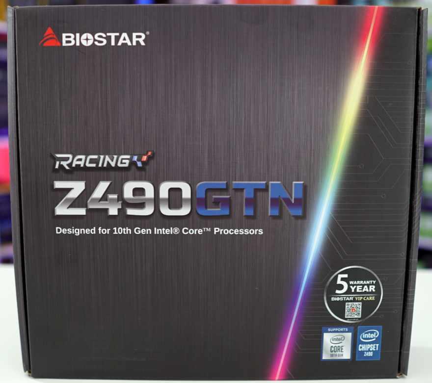 Biostar Racing Z490GTN Motherboard Box front