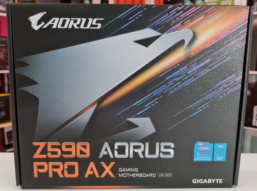 Gigabyte Z590 AORUS PRO AX Motherboard box front